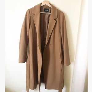 Express brown trench coat